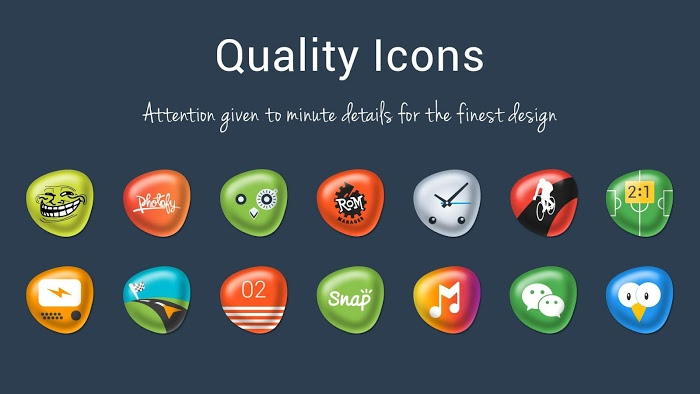Pebbles Apex Nova Icon Theme Apk