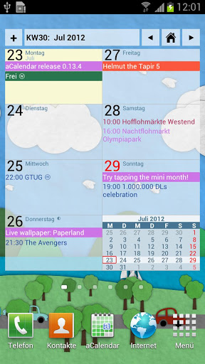 aCalendar+ Calendar & Tasks Apk