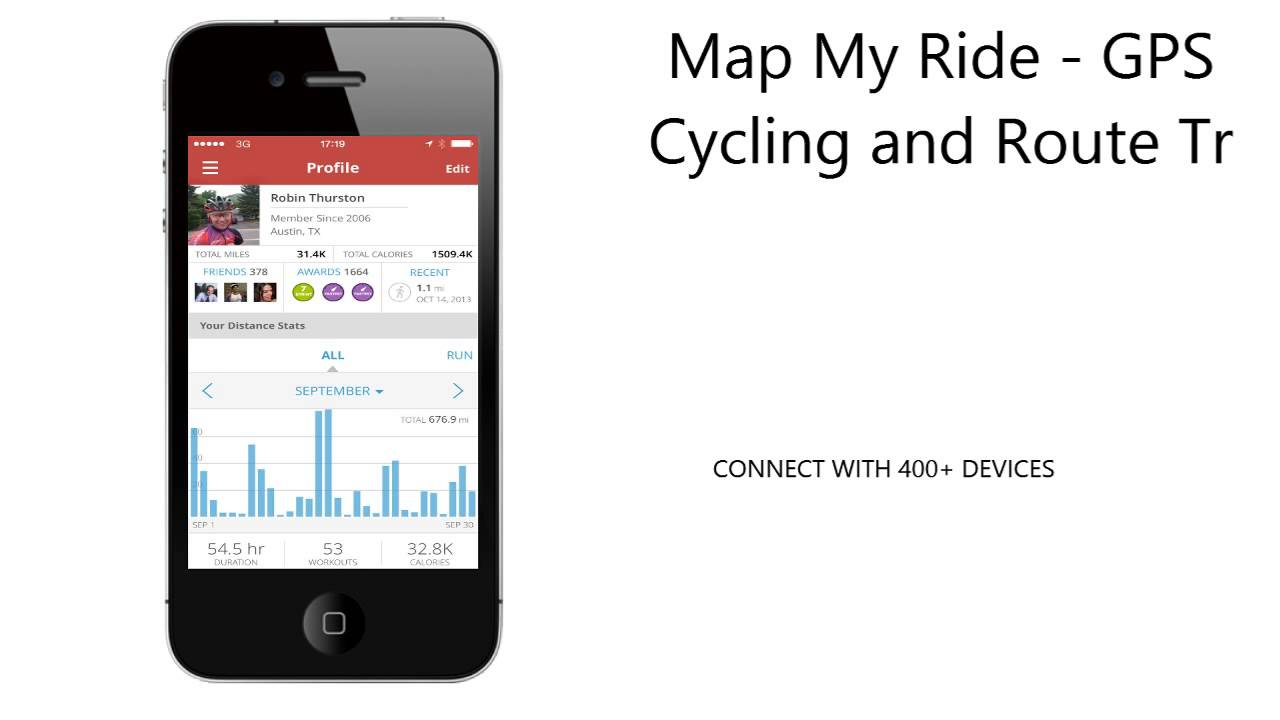 Map My Ride GPS Cycling