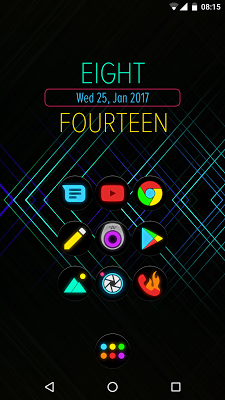 Neon Glow C Icon Pack Apk