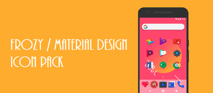 Frozy Material Design Icon Pack