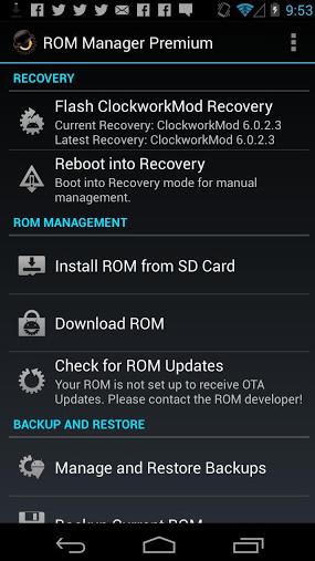 ROM Manager Premium Apk