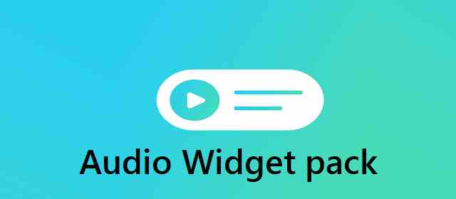 Audio Widget pack