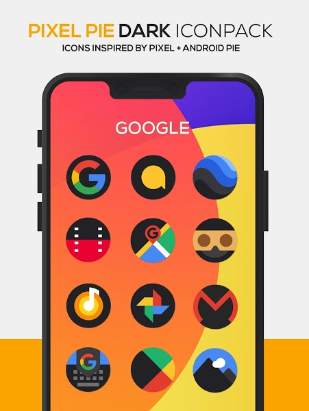 Pixel Pie DARK Icon Pack Apk