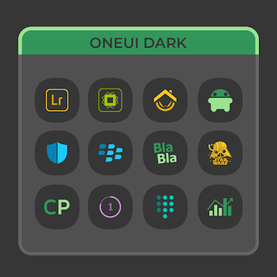 OneUI Dark Icon Pack Apk