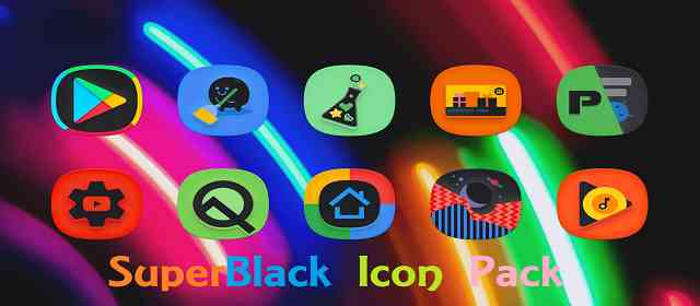 SuperBlack Icon Pack