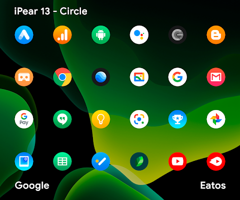 iPear 13 Round Icon Pack Apk