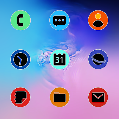 PIXEL ONE UI FLUO ICON PACK Apk