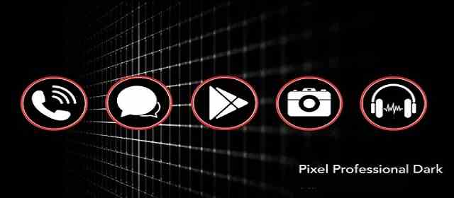 PIXEL PROFESSIONAL DARK ICON PACK