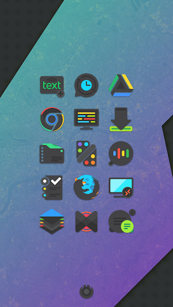 Crispy Dark Icon Pack Apk