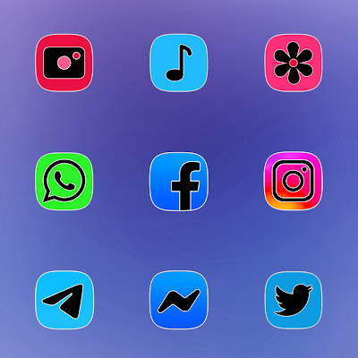 ONE UI FLUO ICON PACK Apk
