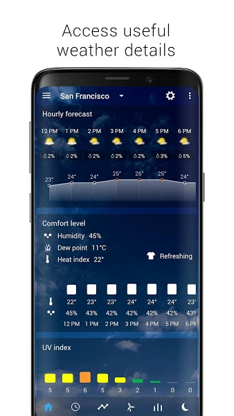 Transparent Clock Weather Apk