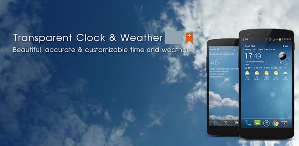 Transparent Clock Weather