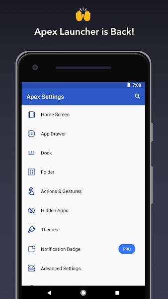 Apex Launcher Classic Pro Apk