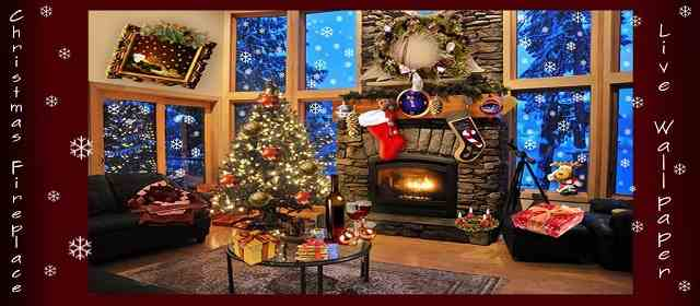 Christmas Fireplace LWP Deluxe