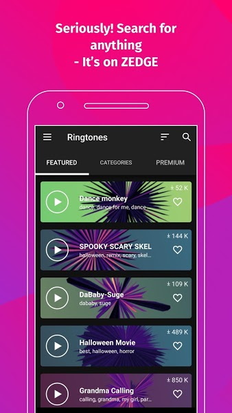 ZEDGE Ringtones & Wallpapers Mod Apk